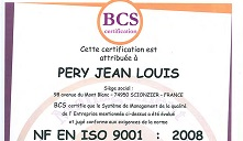 Péry Décolletage Certification Iso