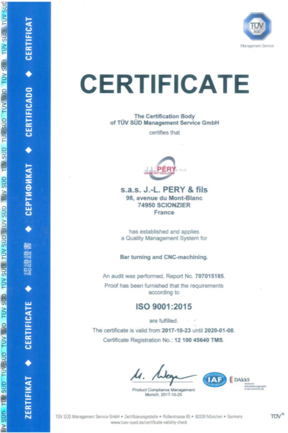 ISO 9001 certificate bar turning, cnc machining